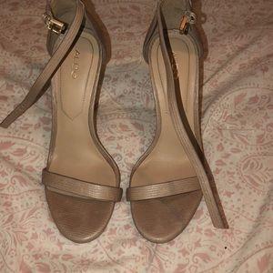 Aldo Nude Sandal Heels
